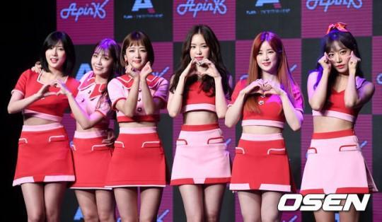 Apink appear in Knowing Brothers to perform their new song
